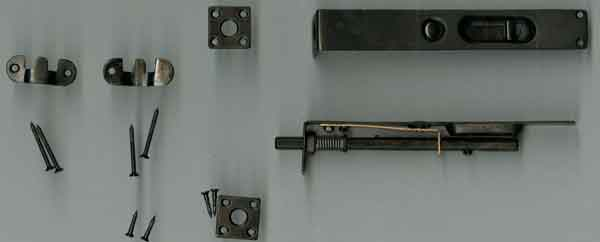 新しく制作した復元錠-錠金具 かざり 能 ばね付きロック錠の製作依頼