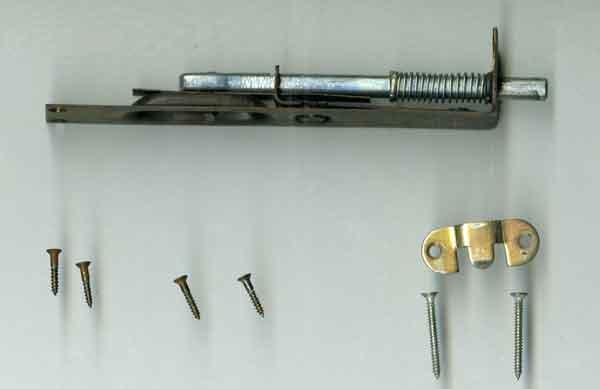 ご依頼の錠-錠金具 かざり 能 ばね付きロック錠の製作依頼